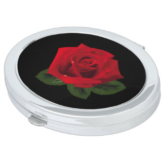 Miss America Red Rose Compact Mirror