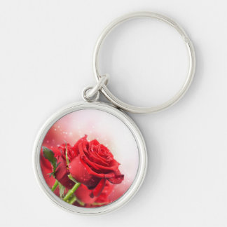 Miss America Red Rose Metal Key Chain