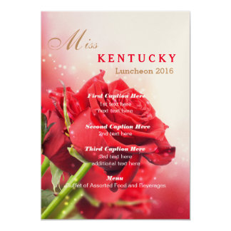 Miss America  Red Roses Luncheon Program Card