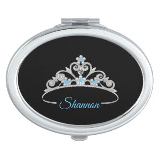 Miss America Rodeo Silver Tiara Compact Mirror-NME Compact Mirror