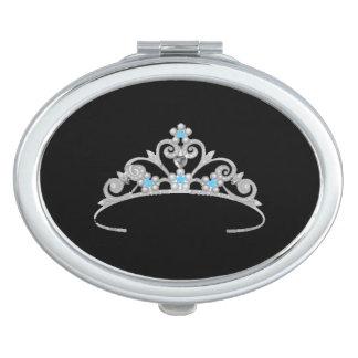 Miss America Rodeo USA Silver Tiara Compact Mirror