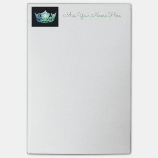 Miss America Sea Green Crown Post-it-Notes Post-it Notes