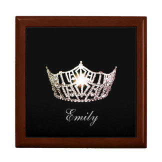 Miss America Silve Crown Personal Name Jewerly Box