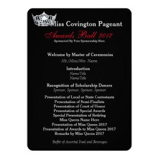 Miss America Silver Crown Awards Ball Program Card