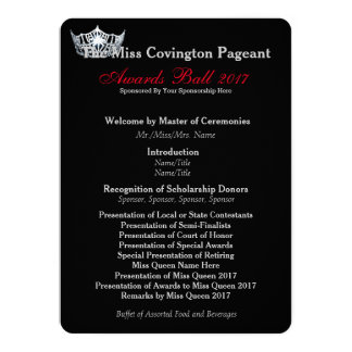 Miss America Silver Crown Awards Ball Program Card 14 Cm X 19 Cm Invitation Card
