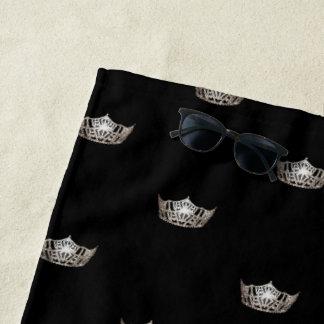 Miss America Silver Crown Beach Towel