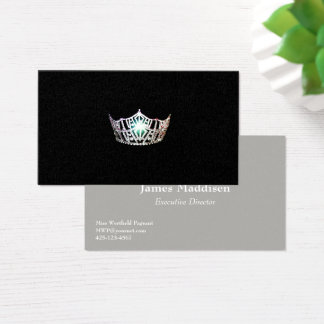 Miss America Silver Crown Business Cards