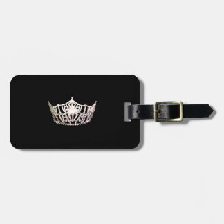 Miss America Silver Crown Luggage Tag