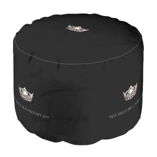 Miss America Silver Crown Ottoman