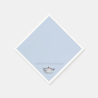 Miss America Silver Crown Paper Napkins Disposable Napkin
