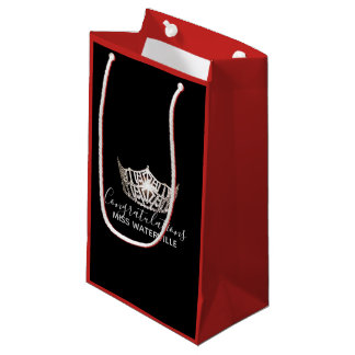 Miss America Silver Crown Red Gift Bag-Small Small Gift Bag