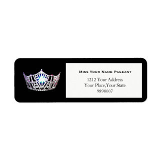 Miss America Silver Crown Return Address Labels