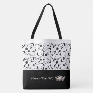 Miss America Silver Crown Tote-Atlantic City Scrll Tote Bag