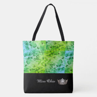 Miss America Silver Crown Tote Bag Lagoon Mosaic