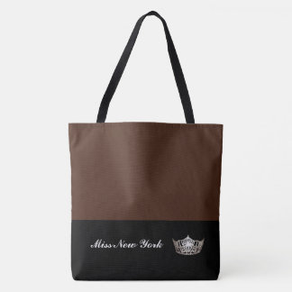 Miss America Silver Crown Tote Bag-Large BT Sienna