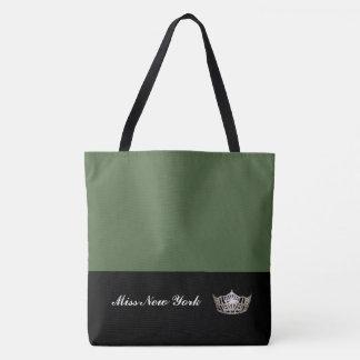 Miss America Silver Crown Tote Bag-Large Cactus