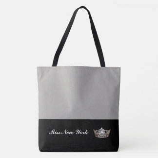 Miss America Silver Crown Tote Bag-Large Silver