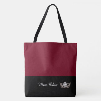 Miss America Silver Crown Tote Bag LRGE Crimson