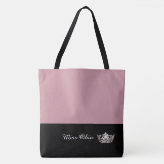 Miss America Silver Crown Tote Bag LRGE Mauve