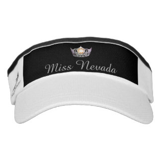 Miss America Silver Crown Visor  Hat