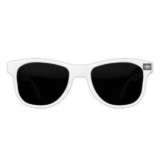 Miss America Silver Crown White Custom Sunglasses