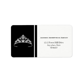 Miss America Silver Tiara Crown Address Labels