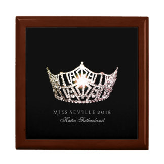 Miss America SLVR Crown Personal Name Jewerly Box