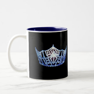 Miss America style Blue Crown  Mug