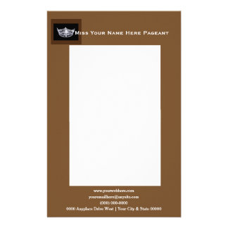 Miss America style Bold Boxes Letterhead Stationery Paper