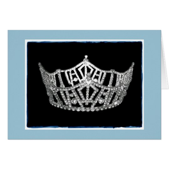 Miss America style Crown Thank You Card