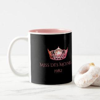 Miss America style Custom Name Coral Crown  Mug