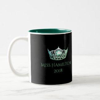 Miss America style Custom Name Green Crown  Mug