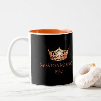 Miss America style Custom Name Orange Crown  Mug