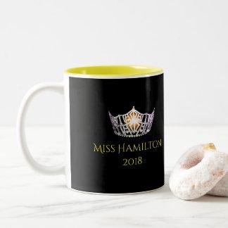 Miss America style Custom Name Silver Crown  Mug