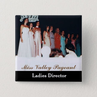 Miss America Style Custom Pageant Buttons