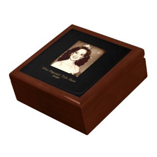 Miss America style Custom Photo & Date Trinket Box