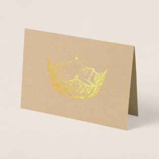 Miss America Style Gold Foiled Crown Card