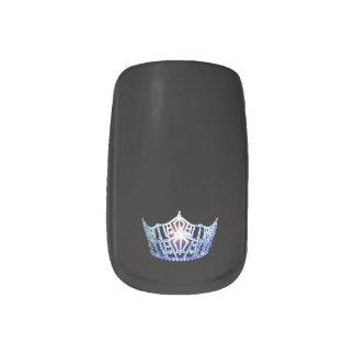 Miss America style Minx Nails Blue Crown Minx Nail Art