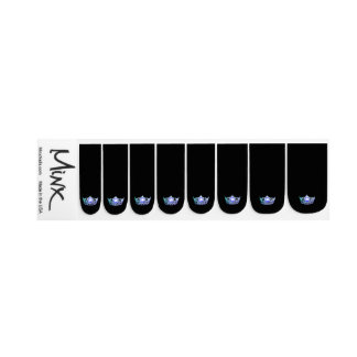 Miss America style Minx Nails Multi Crown Minx Nail Art