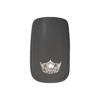 Miss America style Minx Nails Silver Crown Minx Nail Art