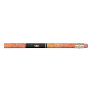 Miss America style Orange Crown Scrolls Pencil