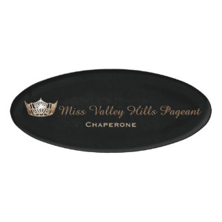 Miss America Style Oval Custom Name Tag