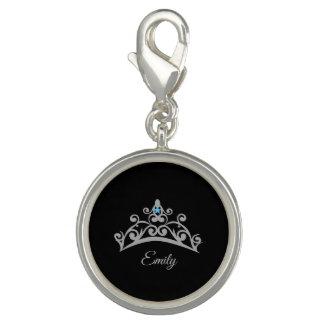 Miss America USA Rodeo Silver Tiara SP Charm-Name
