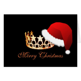 Miss America USA Santa Hat Orange Crown Card