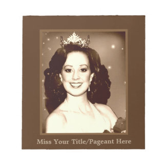 Miss American Pageant Autograph Sheets Notepad