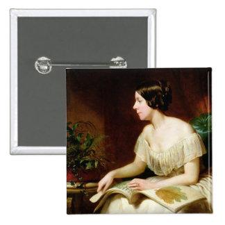Miss Anne Pratt, the famous botanist 15 Cm Square Badge