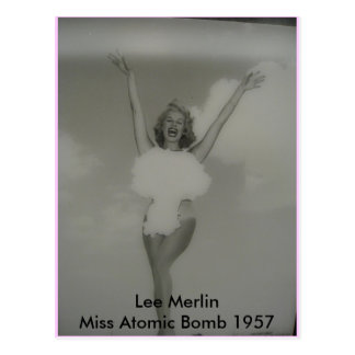 Miss Atomic Bomb 1957 Postcard