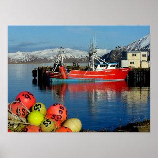 Miss Berdie, Fishing Trawler in Dutch Harbor, AK Poster