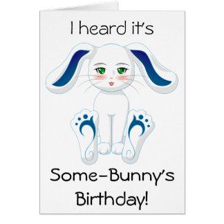 Miss Bunny's Birthday Wishes (Blank Inside) Card