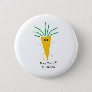 Miss Carrot & Friends 6 Cm Round Badge